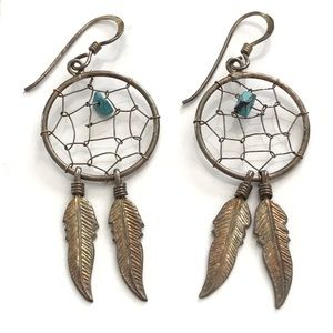Vintage Sterling Silver Dreamcatcher Earrings